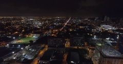 Night aerial Downtown Miami 4k video Stock Footage