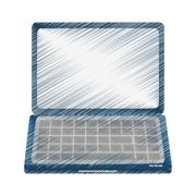Isolated laptop device design Stock Illustration