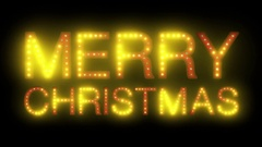 Merry Christmas Holiday Blinking LEDs Light Effect HD Stock Footage