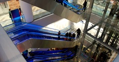 Escalators at the Mall, Central Children's Store on Lubyanka Stock Footage
