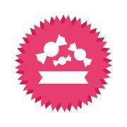 Candy icon image Stock Illustration