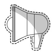 Isolated megaphone design Stock Illustration