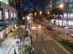 Night Traffic in Makati City, Metro Manila, Philippines. Stock Footage