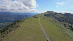 Road in the high mountains, Basque Country, Spain Stock Footage