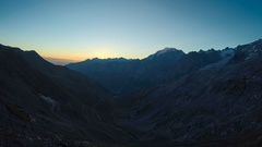 Sunset in the Alps, timelapse Stock Footage