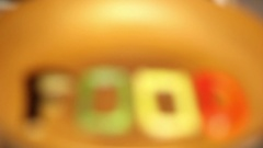 In a frying Pan In Boiling Oil Fried Diet Words FOOD . Stock Footage