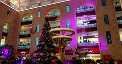 Christmas tree with red star, Central Children's Store on Lubyanka Stock Footage