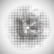 Abstract halftone pattern Stock Illustration