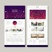 Gorgeous one page web design Stock Illustration