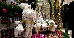 Christmas toys, Santas, Central Children's Store on Lubyanka Stock Footage