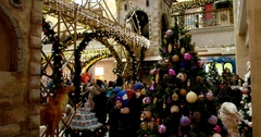 Christmas atmosphere, Central Children's Store on Lubyanka Stock Footage