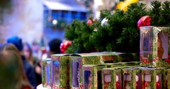 Sale of Christmas toys, Central Children's Store on Lubyanka Stock Footage