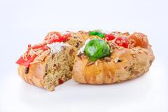 Bolo Rei (King Cake), the traditional Portuguese Christmas cake Stock Photos