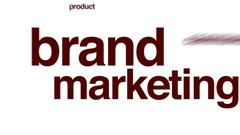 Brand marketing animated word cloud. Stock Footage