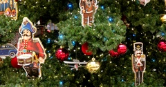 Christmas toys, tree, Central Children's Store on Lubyanka Stock Footage