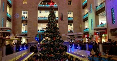 New year performance, shopping Mall, Central Children's Store on Lubyanka Stock Footage