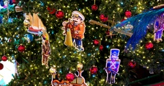 Toys on the Christmas tree, Central Children's Store on Lubyanka Stock Footage