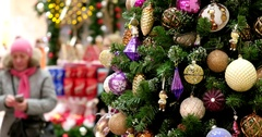 Christmas tree in shopping Mall, Central Children's Store on Lubyanka Stock Footage