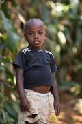 Portrait of malagasy boy in torn clothes, Madagascar Stock Photos