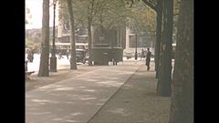 Vintage 16mm film, 1952, France, Paris, streetlife #4 Stock Footage