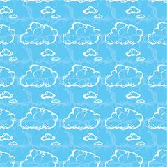 Seamless pattern with clouds Stock Illustration