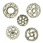 Steel gears, steampunk, Stock Illustration