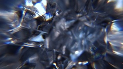 Ice Crystals Close up Motion Background Stock Footage