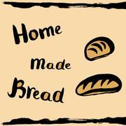 Homemade bread Stock Illustration