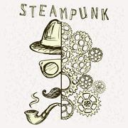 Steampunk background. Piirros