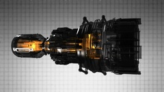 Loop rotate jet engine turbine of plane, aircraft concept Stock Footage