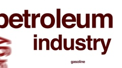 Petroleum industry animated word cloud. Stock Footage