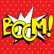Cartoon Boom explosion, Stock Illustration