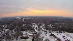 Snowy winter morning sunrise over york south carolina Stock Footage