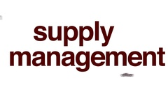 Supply management animated word cloud. Stock Footage
