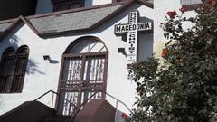 Macedonian Church entrance - exterior Stock Footage