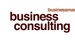 Business consulting animated word cloud. Stock Footage