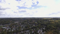 Drone footage of a New York Suburb - Tarrytown - 4k Stock Footage