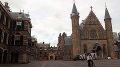 Ridderzaal Binnenhof Den Haag Hyperlapse Stock Footage