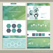 High-tech concept one page website design Stock Illustration