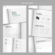 Simplicity one page website design Stock Illustration