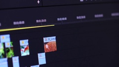 Video Software Timeline Stock Footage