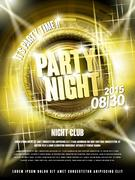 Gorgeous music party poster design Stock Illustration