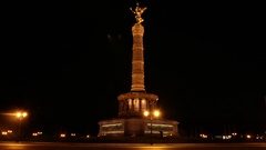Berlin Victory Column Stock Footage