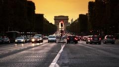 Avenue des Champs-Élysées Timelapse - Paris Stock Footage