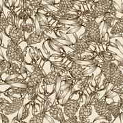 Mistletoe and pine cones Stock Illustration
