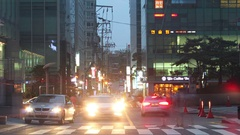 Seoul Gangnam Timelapse Stock Footage