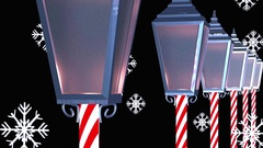 Christmas background poles light poles Stock Footage
