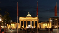 Berlin Brandenburger Tor - Timelapse Stock Footage
