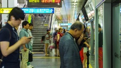 Seoul Metro Station Stock Footage