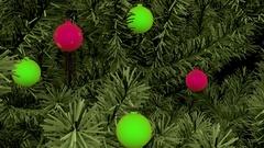 Christmas tree ornaments CGI Stock Footage